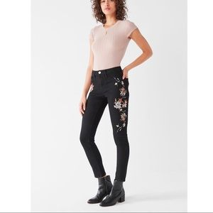 BDG Twig High-Rise Black Embroidered Skinny Jeans